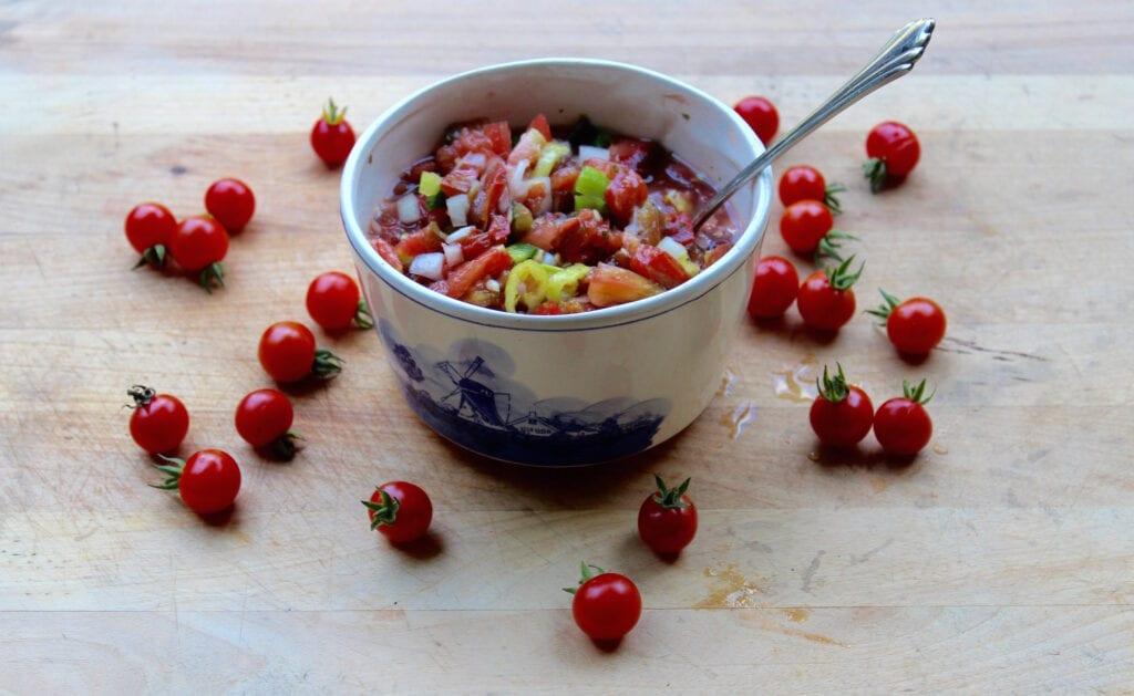 ¡Salsa de tomate fresco y degustaciones de tomate súper fáciles!