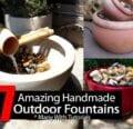 17 increíbles fuentes de jardín caseras -