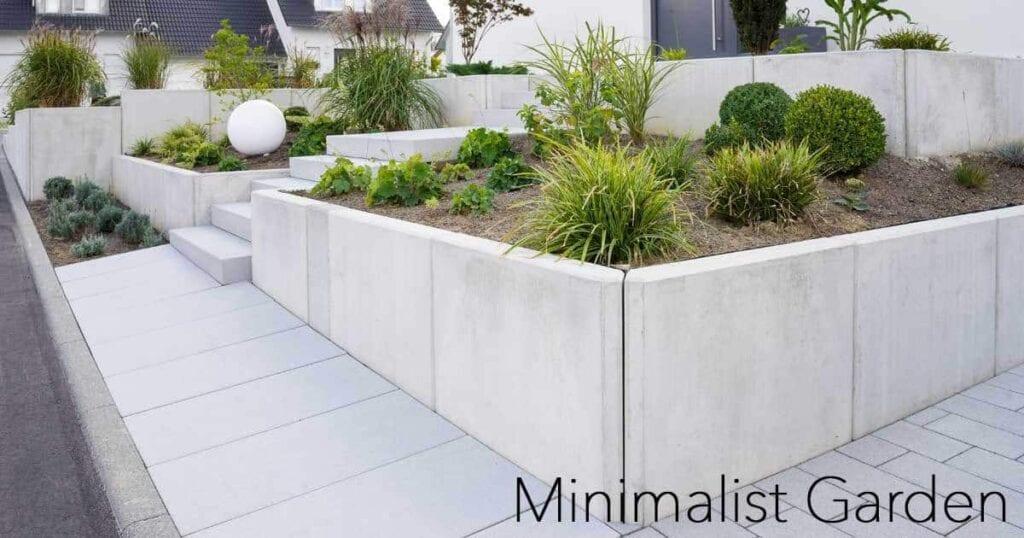 front yard Minimalist Garden