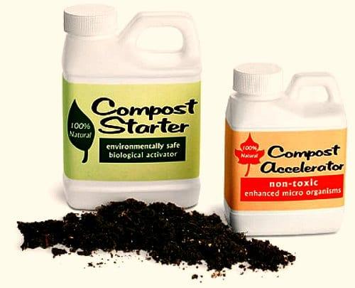 compost accelerators, compost starts, compost activators, compost boosters