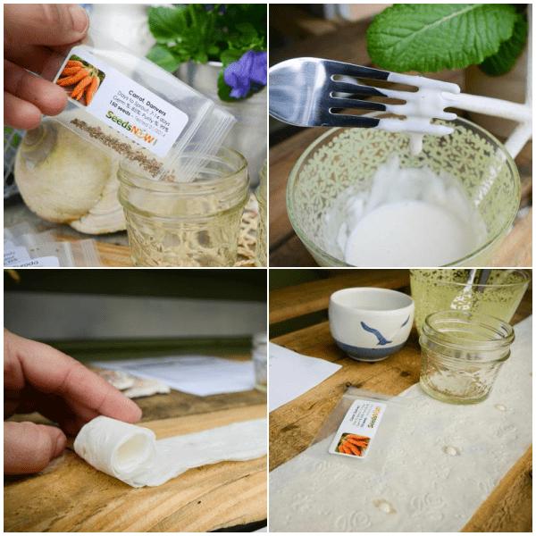 Cómo hacer tu propia cinta de semillas