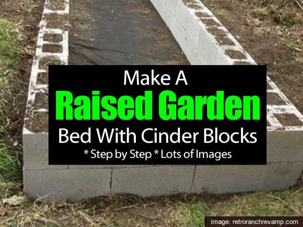Cómo hacer un jardín de camas elevadas usando bloques de concreto -