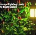 Consejos sobre los niveles de iluminación del paisaje en el jardín nocturno -