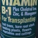 Fertilizante con vitamina B1: el mito de la jardinería