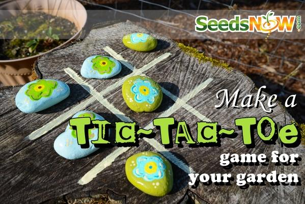 Haz un tic-tac-toe para tu jardín
