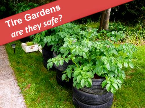 Tire Gardens for Potatoes and Tomatoes - Is it Safe?, photo source Lovetoknow