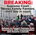 La Corte Suprema niega a los agricultores familiares el derecho a la autodefensa contra el abuso de Monsanto
