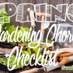 Lista de verificación de jardinería de primavera