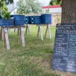 Primera caja de agricultura de apoyo comunitario - estiercoles