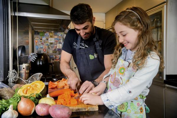 Crecimiento suficiente de alimentos para alimentar a una familia