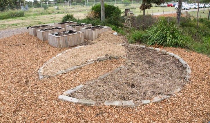 El diseño del jardín del círculo para la jardinería productiva